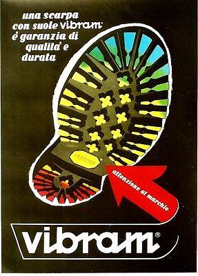 Original vintage poster VIBRAM ITALIAN QUALITY SHOES c.1960