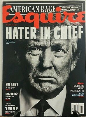 Esquire February 2016 Donald Trump Hater in Chief Hillary Rubio FREE SHIPPING sb