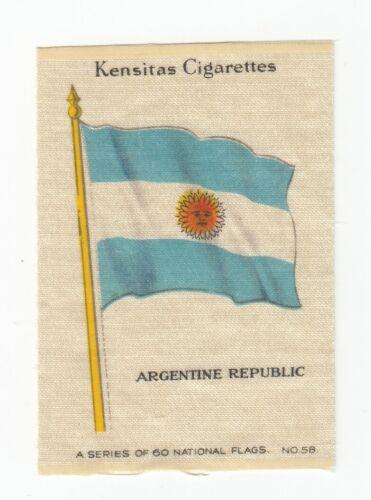 "1934 NATIONAL FLAGS  Tobacco ""Silk"" ARGENTINE REPUBLIC Argentina"
