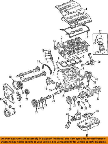 audi 02 05 a4 quattro engine valve cover 058103721d | ebay 1998 audi a4 quattro v6 engine diagram 2003 audi a4 3 0 engine diagram