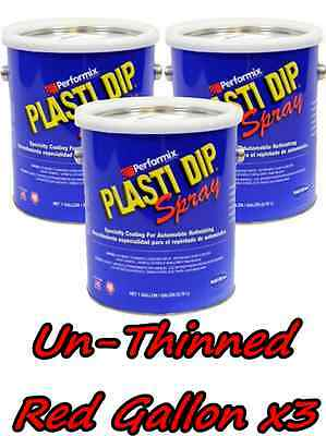 3 Gallons Red Unthinned Performix Plasti Dip Concentrate Full Strength Free Sh