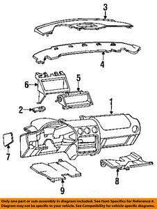 Pontiac Gm 93 96 Firebird Instrument Panel Dash Crash Pad 10274437 Ebay