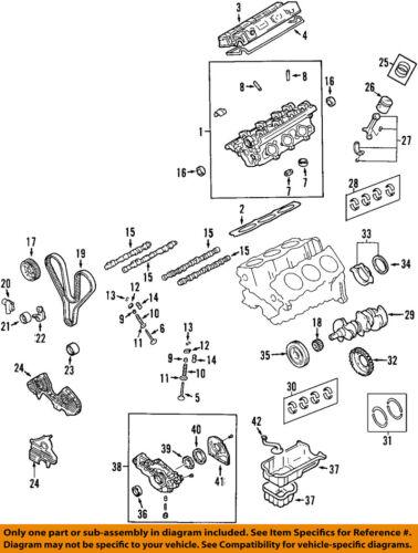 Hyundai OEM 2001 XG300-Motor Correa Distribución 2431239400 | eBay | Hyundai Engine Diagrams |  | eBay