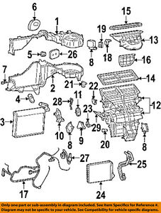 JEEP OEM 68020231AB Evaporator & Heater-Distribution Box