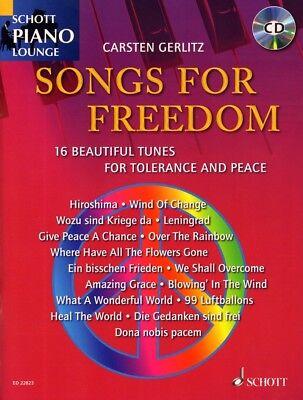 Schott Piano Lounge Songs for Freedom Klavier Noten mit CD Carsten Gerlitz