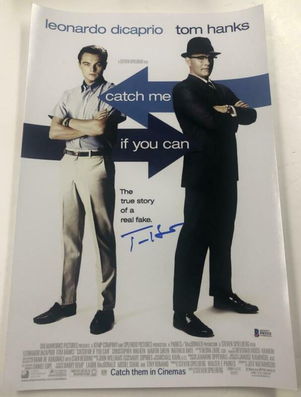 TOM HANKS SIGNED CATCH ME IF YOU CAN 12X18 PHOTO AUTOGRAPH BECKETT COA