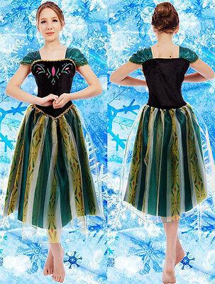 Damen Frozen Eiskönigin Anna Prinzessin Kield Kostüm Fasching Party Cosplay Gift (Anna Kostüm Damen)