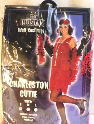 Flapper Costume charleston Small Red Retro Black Gatsby  theater play dance - Retro Dance Costume
