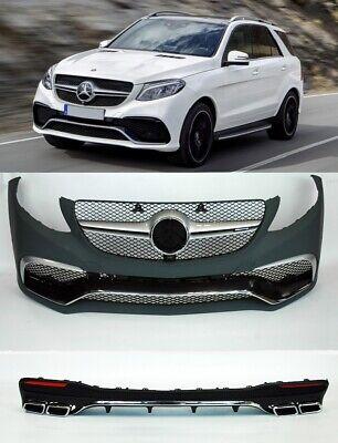 Paket 63 AMG Optik Umbau Mercedes GLE W166 Stoßstange Vorne Hinten Endrohre 15 +