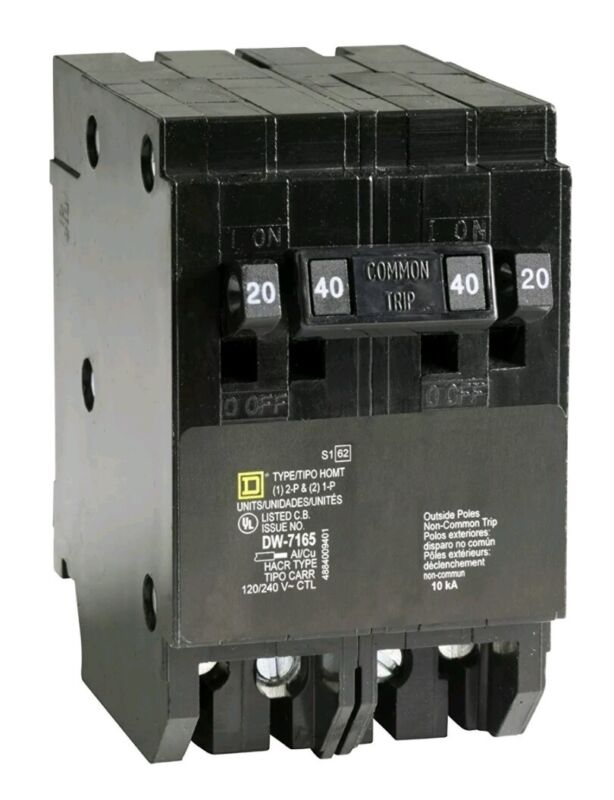 Square D by Schneider Electric HOMT2020240CP Homeline 2-20-Amp Single-Pole Quad