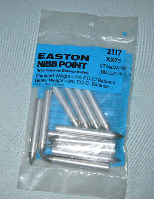2117 EASTON XX75--7% NIBB Standard Weight Bullet Points - Aluminum Target Arrows Aluminum Standard Weight