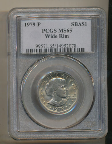 1979 P WIDE RIM PCGS MS65 Susan B Anthony dollar NEAR DATE