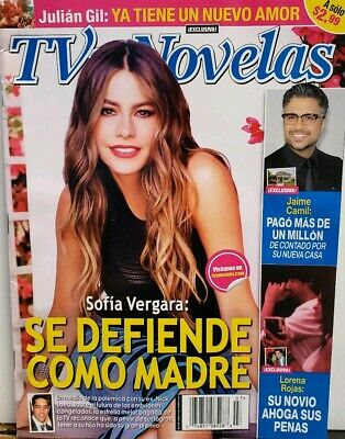 TV y Novelas July 2015 Sofia Vergara Jaime Camil Lorena Rojas FREE SHIPPING CB