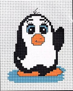 Penguin Cross Stitch Kit By Luca S Ideal Beginner 6 x 8cm