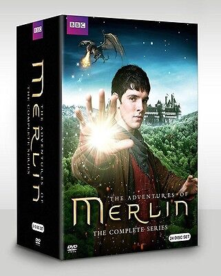 Merlin: The Complete Series season 1 2 3 4 5 (DVD, 2014, 24-Disc Set)