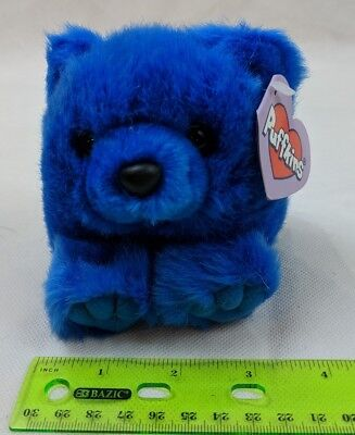 Puffkins Skylar the Blue Teddy Bear Plush Stuffed Swibco VTG Toy w/ Tag
