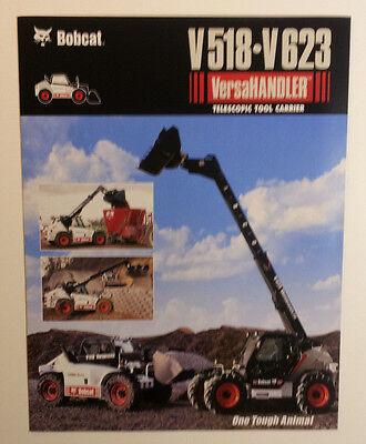 Bobcat V 518 V 623 Versahandler Telescopic Tool Carrier Dealership Sales Folder