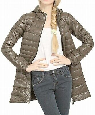 Caracilia Womens Jacket Olive Green Size 16W Plus Quilted Full-Zip $46 531