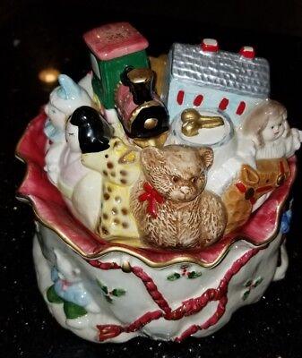 1987 FITZ and FLOYD FF Santa Bag Of Toys Christmas Cookie Jar Satchel Japan