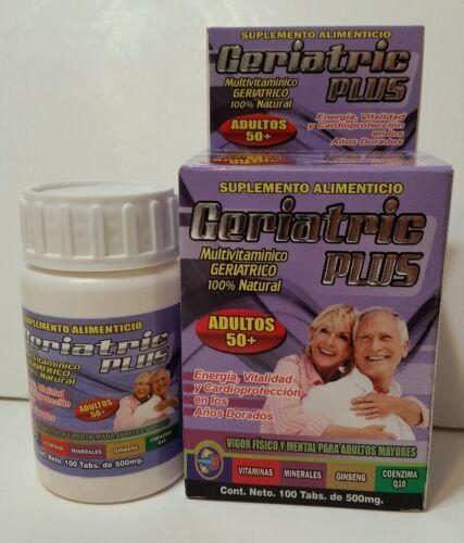 Geriatric Plus - Multivitaminico GERIATRICO 100% Natural - Adultos 50+ - Mature