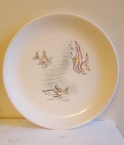 Swinnertons Nestor Vellum Tropical Fish Dinner Plate Vintage Retro Mid Century