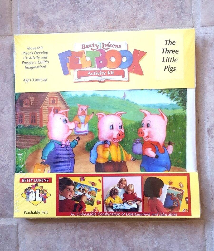 Купить NEW Betty Lukens Felt Activity Book Kit THREE LITTLE PIGS *RARE*