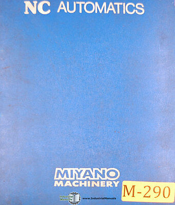 Miyano Bnc-20 Bnc 34 Cnc Machine 415 Page Ops Tooling Program Maint Manual