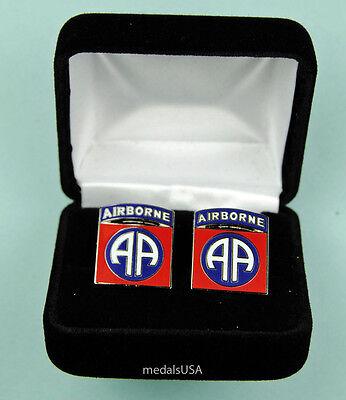 82nd Airborne Division Army Cufflinks in Presentation Gift Box Cuff Link 0614
