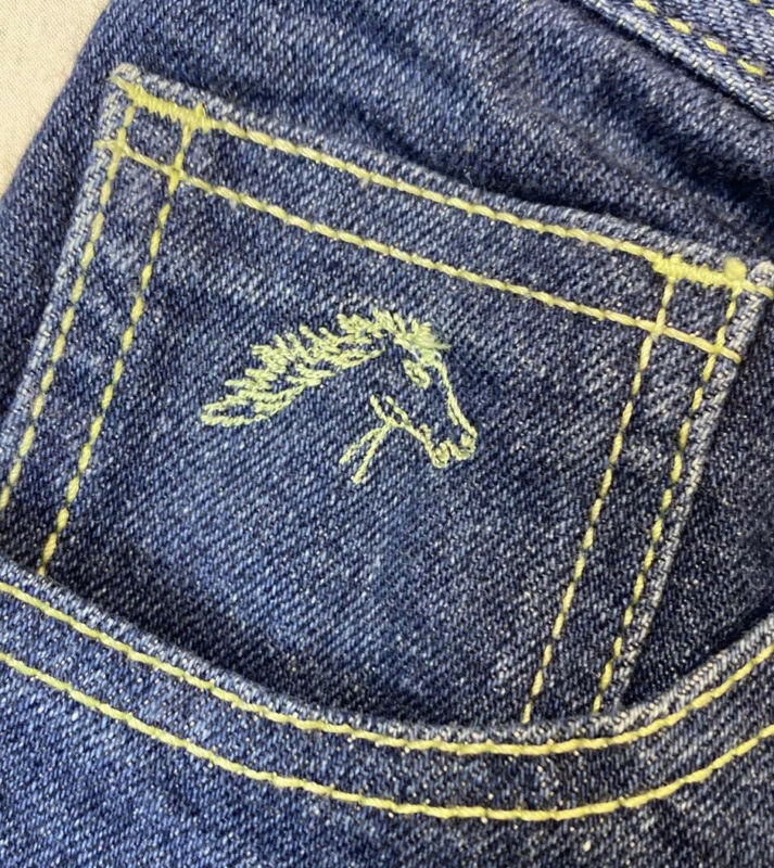 Vtg Womens Jordache Denim Jeans Sz 14 Horse Head Made In USA Measures 28 X 32