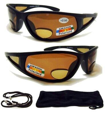 4b350cd101 2.50 Polarized BIFOCAL SunGlasses Mens Womens Sport Fishing Glasses Reading  250