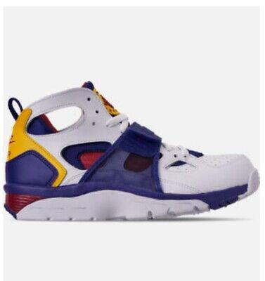 Men's Nike Air Trainer Huarache Men's Shoes White/Purple/Yellow/Maroon Size 11