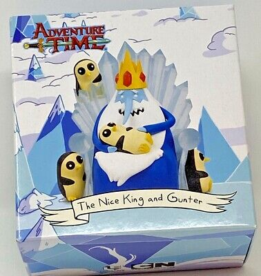 Adventure Time the Nice King and Gunter Figure Loot Crate Exclusive New Ice King