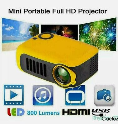 +Home Projector 4K HD 1080P LED HDMI USB Mini Portable Cinema Theater Video 67!7
