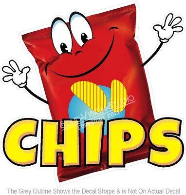 Chips Potato Snack Food Advertisement Concession Truck Vinyl Sticker Menu Decal