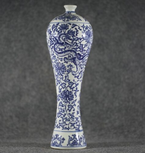 Antique style Chinese Unique style blue and white porcelain vase - Dragon