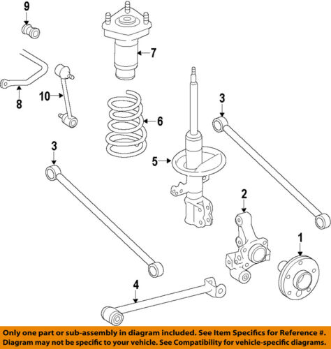 Toyota Oem 98 02 Corolla Rear Suspension Strut 48540a9060 Ebay