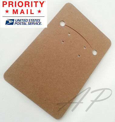 Wholesale 600 Blank Necklace Earrings Kraft Paper Display Card For Jewelry