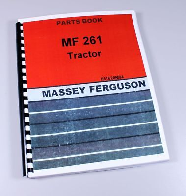 Massey Ferguson 261 Tractor Parts Catalog Manual Book Assembly Numbers