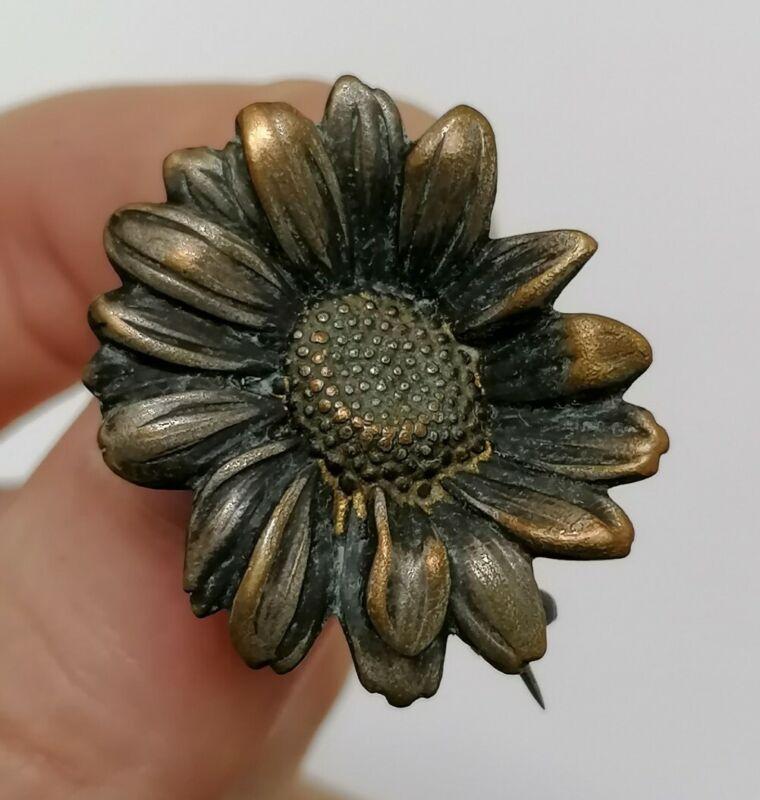 Antique Daisy Flower Edwardian Nouveau Mellerio Paix Rare Old Pin Brooch
