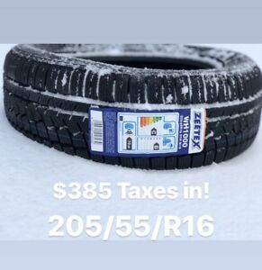 -205/55/16- set of (4) winter tires Zeetex