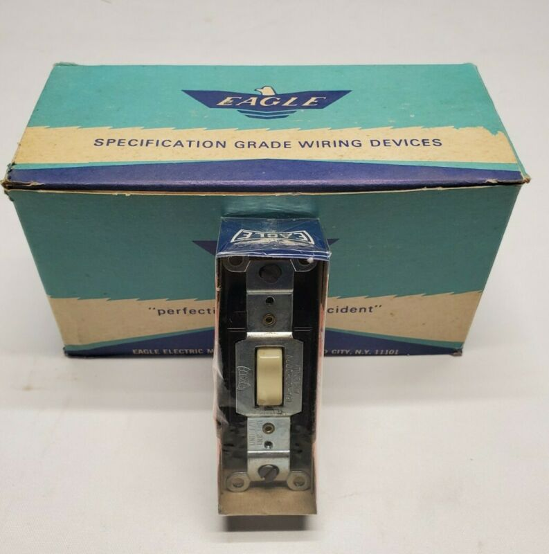 "NOS Eagle 1249-8 Ivory Rocker Touch-A-Matic Switch 3-Way X10 ""Free Shipping"""