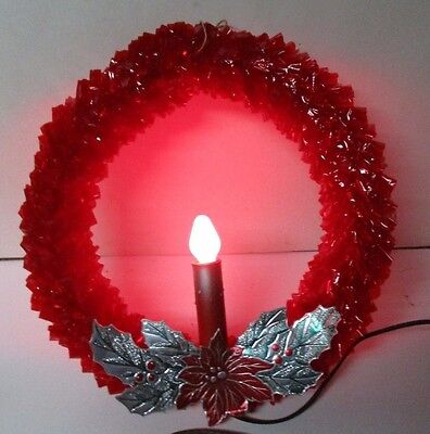 Vintage GLOLITE C-7 Cellophane Christmas Candle Wreath in Original Box