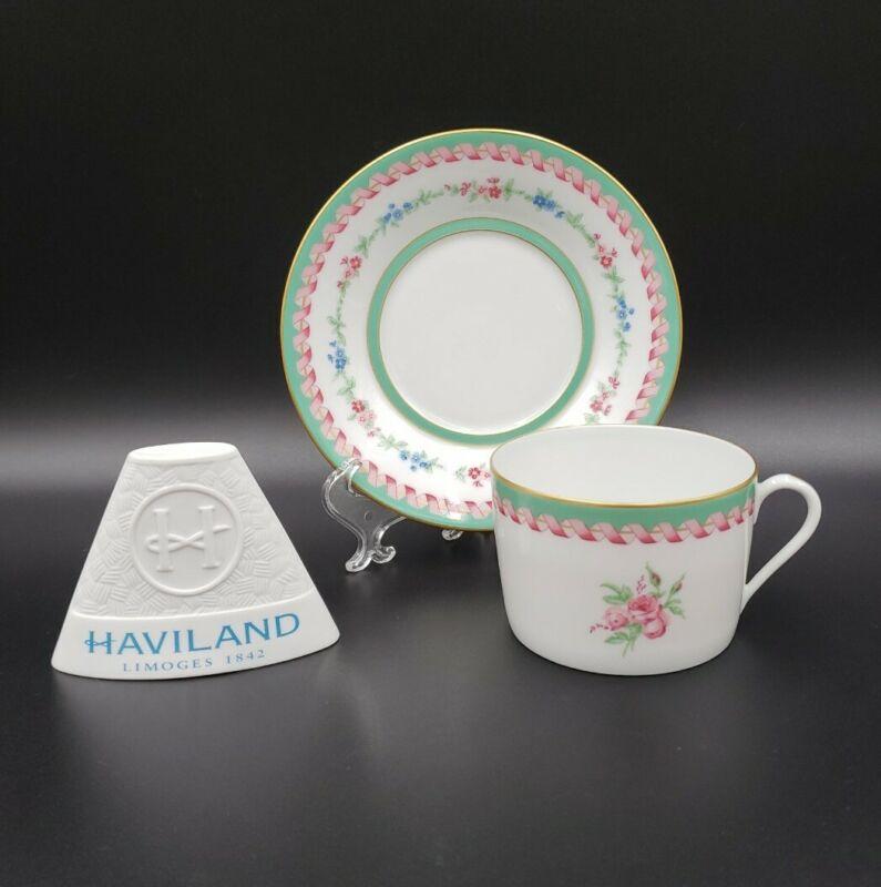 Haviland MARIE ANTOINETTE Flat Cup & Saucer MINT