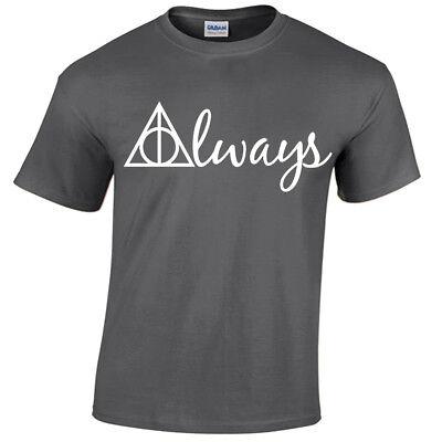 ALWAYS Harry Potter T-shirt men's wizard gryffindor hogwarts snape