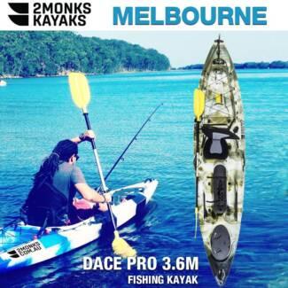 New Single Professional 3.6M Fishing Kayak w Rudder Canoe 2Monks