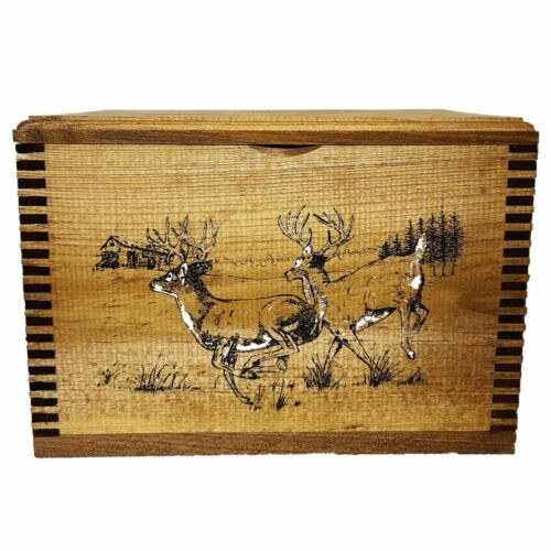 Evans Sports Whitetail Deer Solid Pine Ammo Box