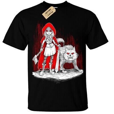 Dunkel Rotkäppchen T-Shirt Herren Böse Gothic Wolf