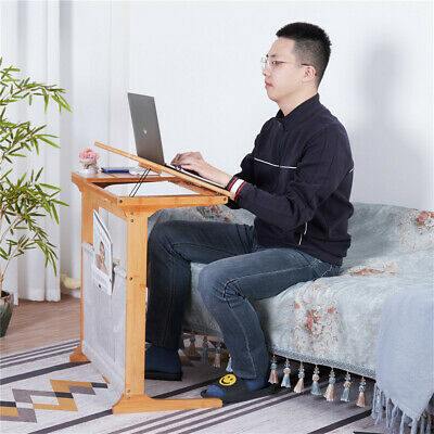 Portable Laptop Side Table Computer Desk Height Adjustable Foldable for Sofa/Bed