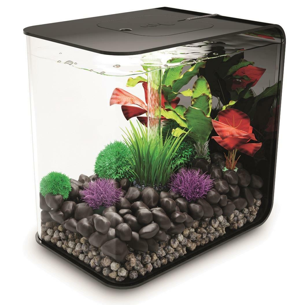 biorb nano aquarium komplett set flow 15 led schwarz ebay. Black Bedroom Furniture Sets. Home Design Ideas