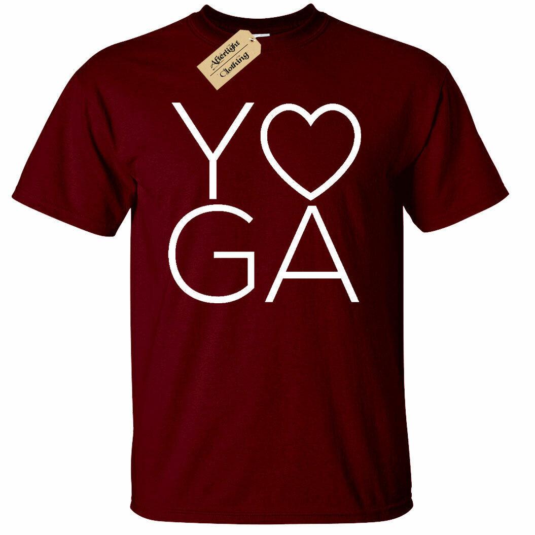 Uomo Yoga Love T Shirt Workout da Palestra Sportive